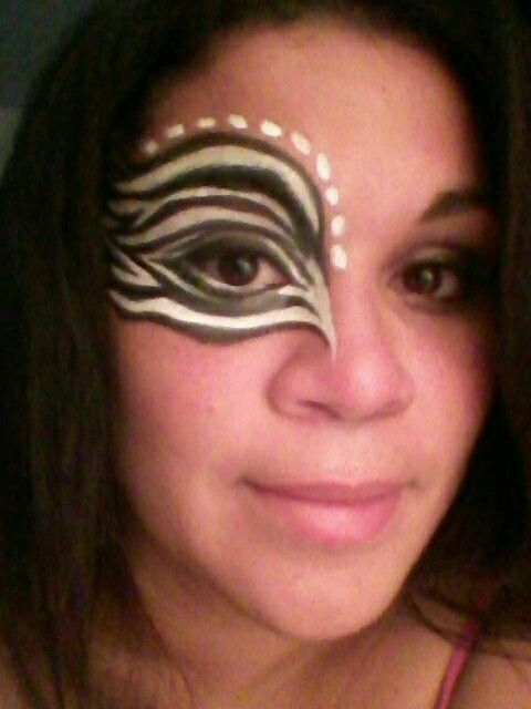 Zebra face paint. I saw this & wanted to try it.