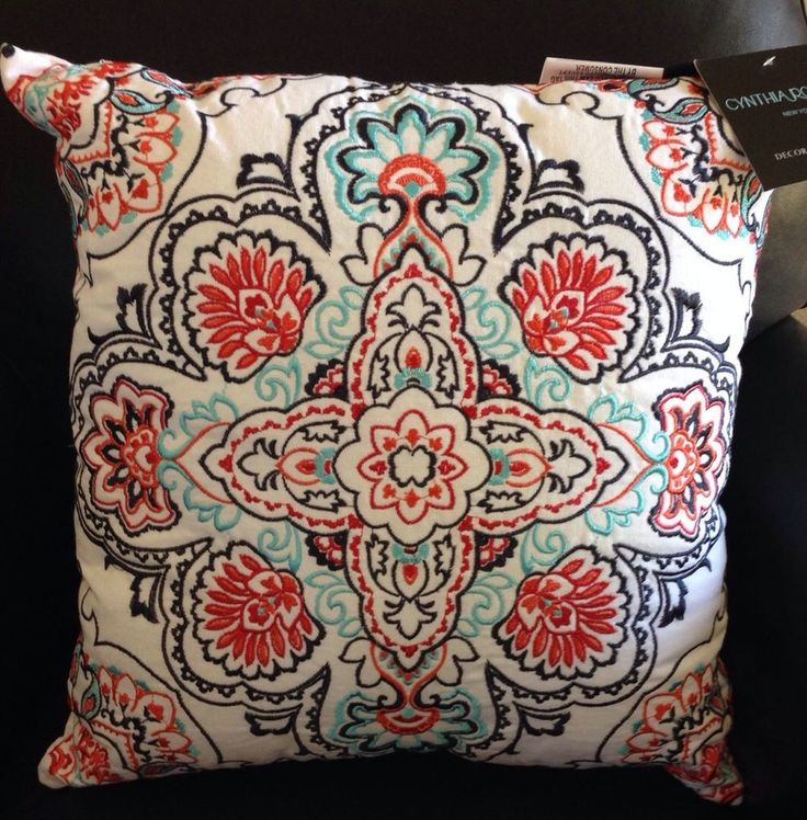 Cynthia Rowley Large Medallion Throw Toss Pillow Matches