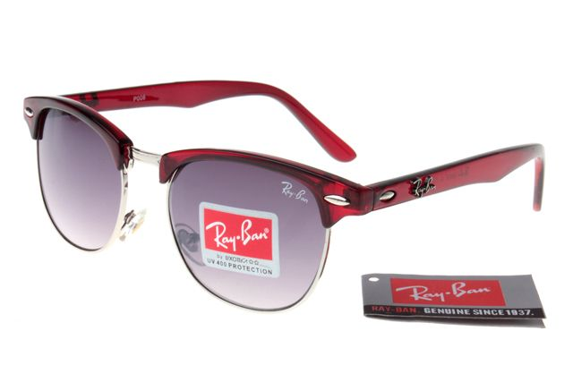 Ray-Ban Clubmaster 3016 Deep Red Frame Gray Lens RB1332 [RB-1334]