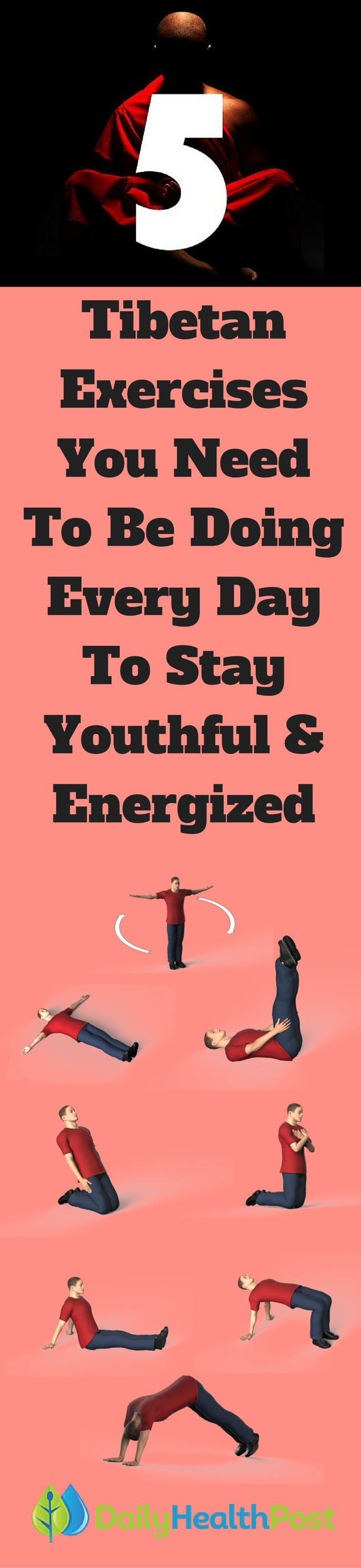 It's no secret that a long life starts with your daily habit. Many people chase youth and health but have trouble to committing to these healthy habits. If you don't know where to start on your journey of wellness, try the Tibetan 5 Rites, which are easy to do and don't require much time. Best of all, they'll leave you feeling relaxed and refreshed!