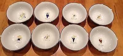 NEW Pottery Barn Reindeer Bowls ~Full Set of All 8!~ Holiday RARE~Great Gift & 83 best Reindeer dinnerware images on Pinterest | Cutlery Dinner ...