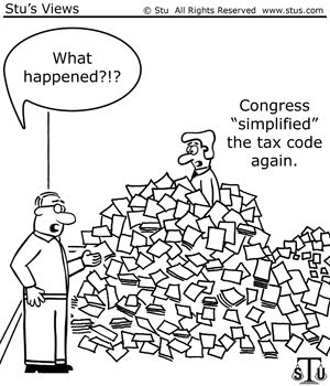 "Congress ""simplified"" the tax code again."