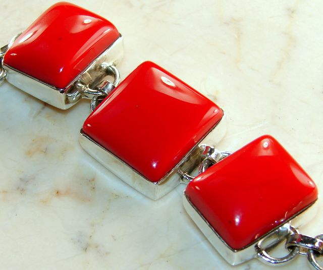 Red Coral Silver Bracelet Buy Discounted Price BT55226
