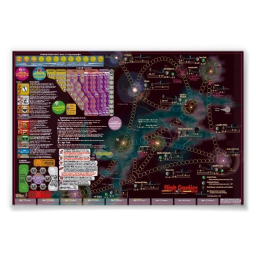 Interstellar Poster-Map - High Frontier solitaire