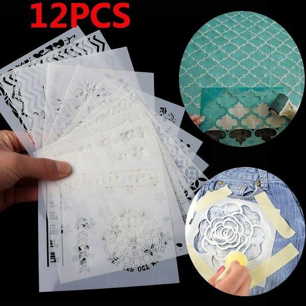 13pcs DIY Craft Embossing Template Scrapbooking Walls Painting Layering Stencils