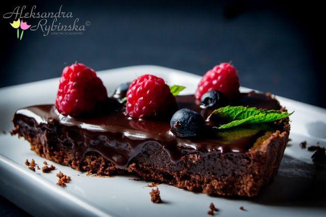 Aleksandra's Recipes: Chocolate Chilli Tart with chocolate glaze