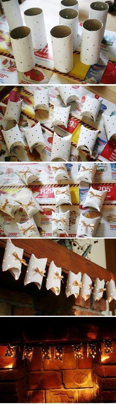 """Decoración de Navidad económica con rollos de papel. [Contacto]: > http://nestorcarrarasrl.wordpress.com/contactenos/ Néstor P. Carrara S.R.L """"Desde 1980 satisfaciendo a nuestros clientes"""":"""