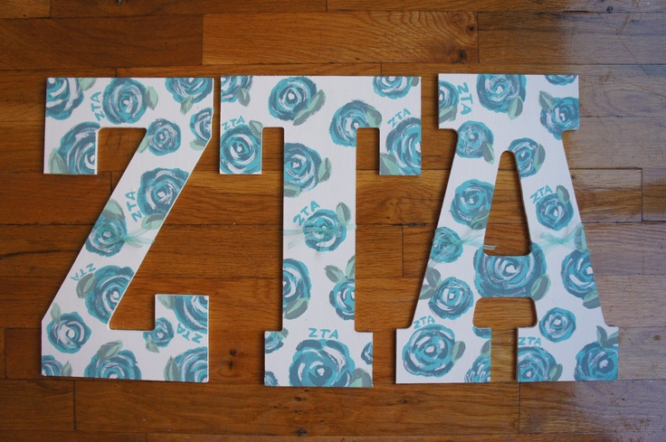 Nyu zeta tau alpha hand painted letters lilly pulitzer for Lilly pulitzer sorority letters