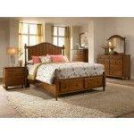 Broyhill Furniture - Hayden Place Light Cherry Panel Storage Bedroom Set - BRO-4648-260-263-460-ROOM