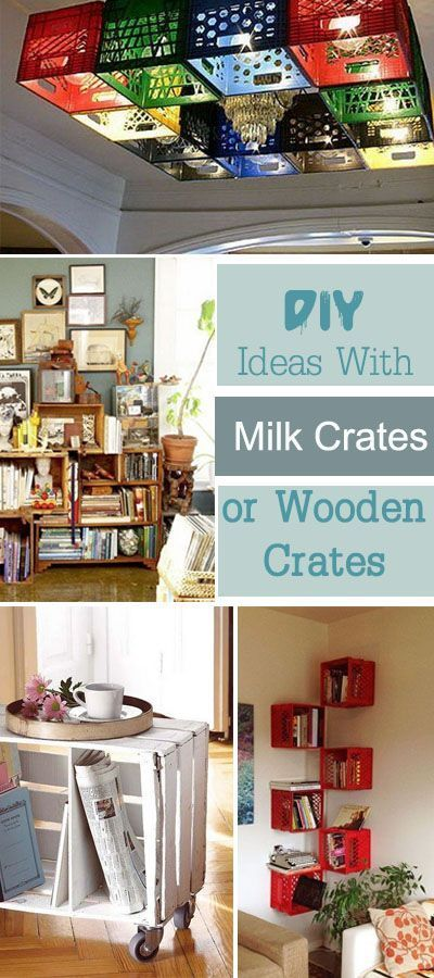DIY Ideas With Milk Crates or Wooden Crates • Round Up of Ideas & Tutorials!