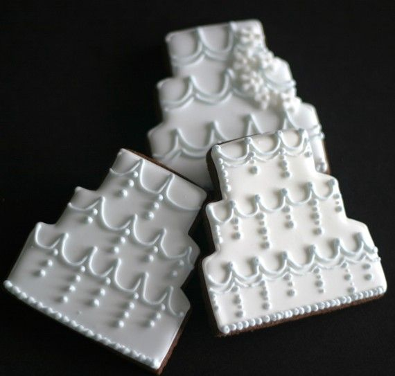 Wedding Cake Cookies FavorsCustom design by pinklittlecake on Etsy, $39.00