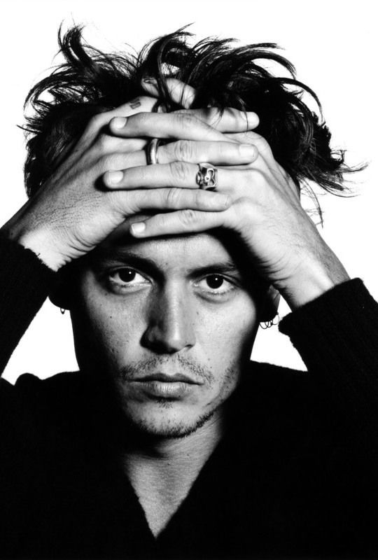 Johnny Depp photographed by David Bailey, 1995.                                                                                                                                                                                 More