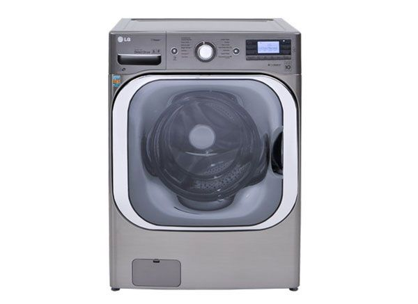 Picture of a front-loading washing machine.