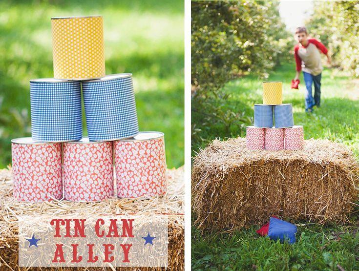 tin can game from the Homespun Hostess