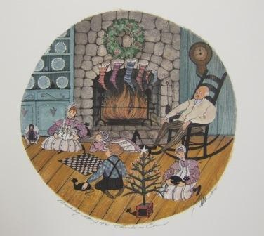 P Buckley Moss Christmas Eve...love her artwork...whimsical & warm