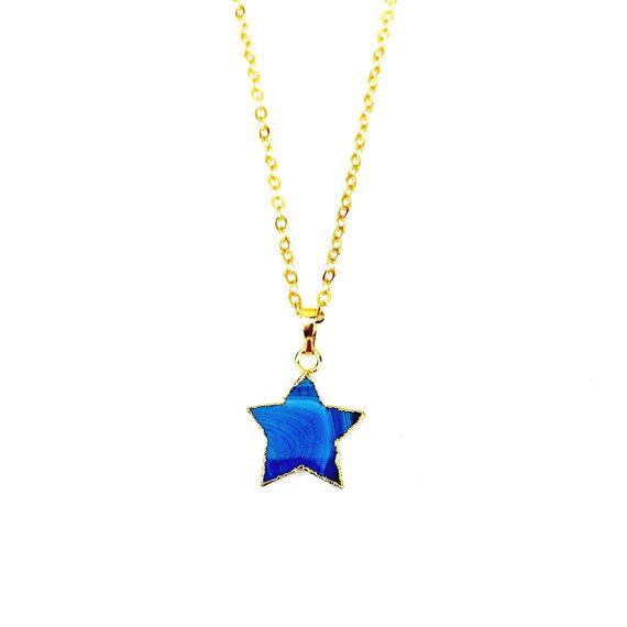 Agate Star Necklace // Star Jewelry, Crystal Necklace, Latitude Festival, Friend Gift, Boho Style, Festival Style, Coachella, Festivalwear