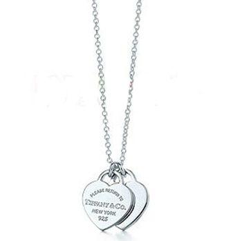 Tiffany & Co Mini Double Heart Tag Pendant