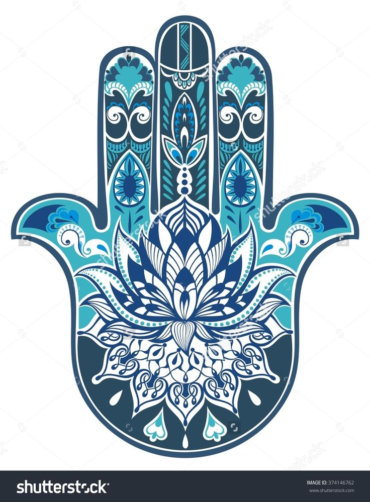 Vector Indian Hand Drawn Hamsa Symbol - 374146762 : Shutterstock