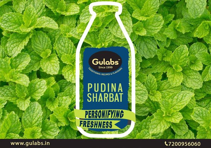 Amidst various advantages of #Pudina, feel ALIVE with #Gulabs #Pudina #Sharbat