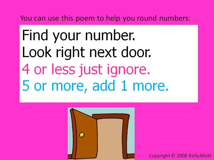 Rounding poem and activities | Anchor Charts | Pinterest | Poem ...
