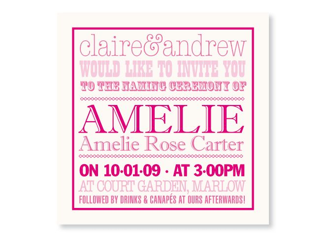 Bapstism Invites, Christening Invitations, Naming Ceremony Invitations,  Personalised Christening Invitations,