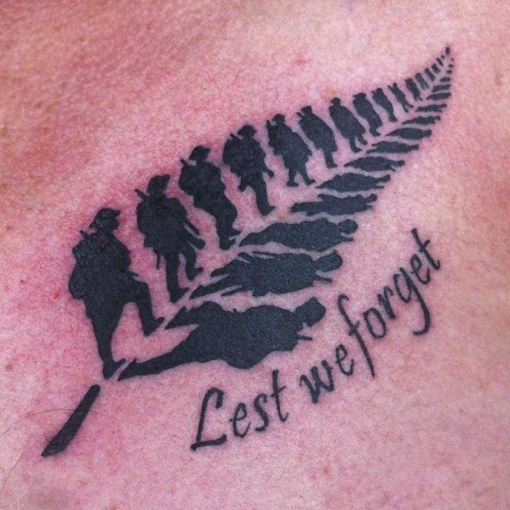 ANZAC tattoo - Pieces of Eight Tattoo Studio/Facebook