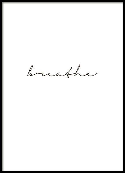 Lámina en blanco y negro, 'Breathe'