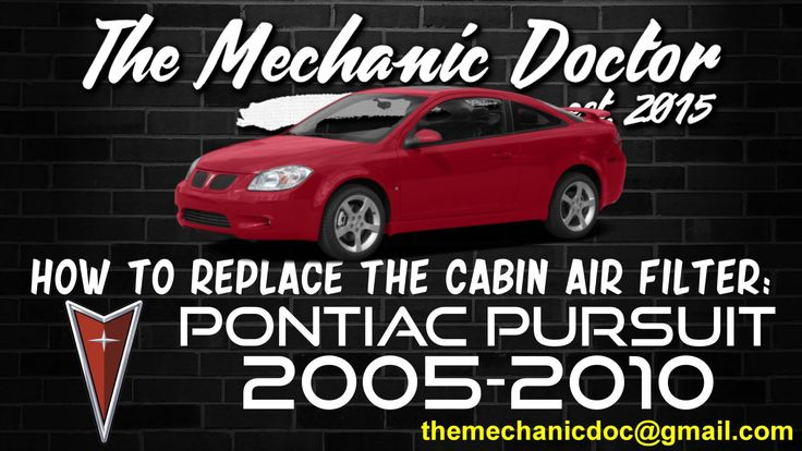 This video tutorial will show you step by step instructions on how to replace the cabin air filter on a Pontiac Pursuit 2005-2010.