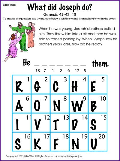 How did Joseph react when he saw his brothers? - Kids Korner - BibleWise