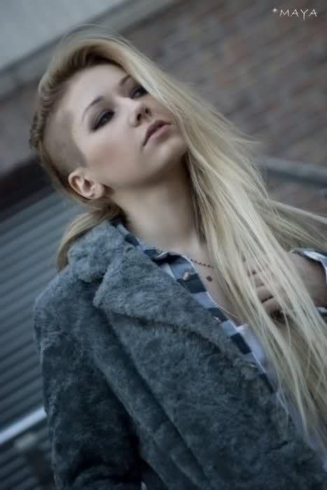 Long Hair SideCut Women