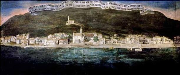 #Belgirate nel 1683. Un quadro votivo a ricordo della liberazione dalla peste del 1631. ( #Verbania #Piedmont #Italy )