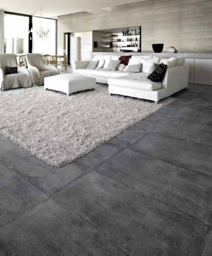 These tiles resemble aged and worn concrete floors you'd see in factories and warehouses.