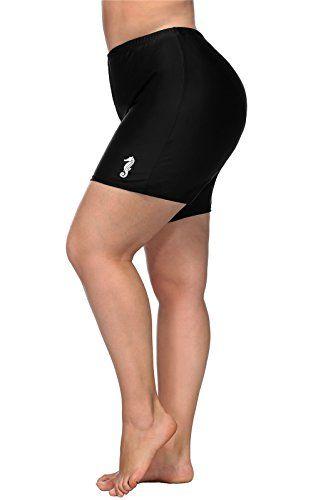 07866d67e6 ALove Women Plus Size Swim Shorts High Waist Board Shorts Stretchy Swimsuit  Bottoms,#Swim, #Shorts, #Size, #ALove