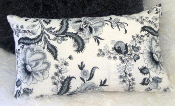 Chidley Floral Print Linen Lumbar Pillow