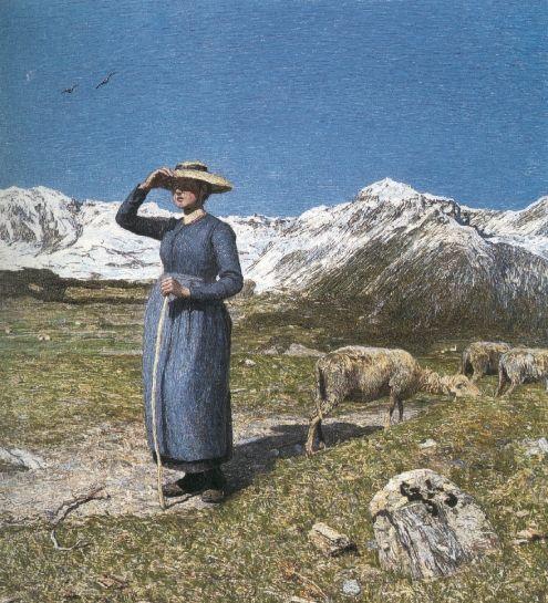 Mezzogiorno sulle alpi,1891, Olio su tela, San Gallo, Fondazione otto Fischbacher