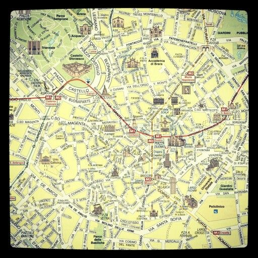 Tourist map milano