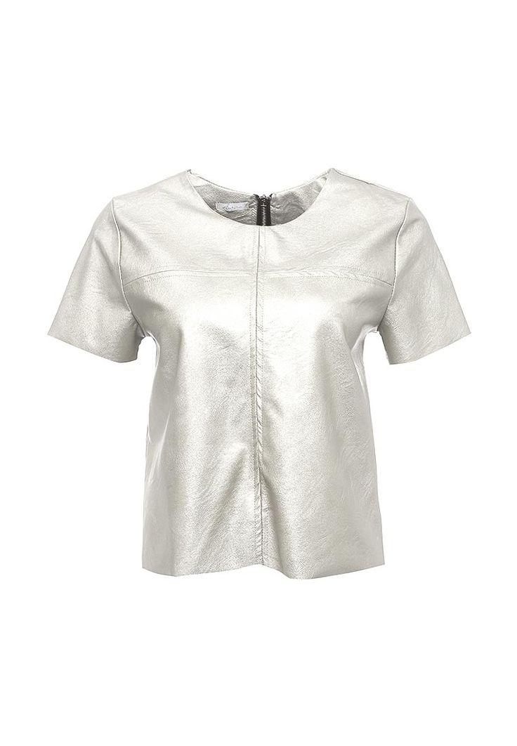 Блуза Aurora Firenze выполнена из мягкой искусственной кожи. Модель прямого кроя. Детали: круглый вырез, застежка на молнию, короткие рукава, необработанные края.