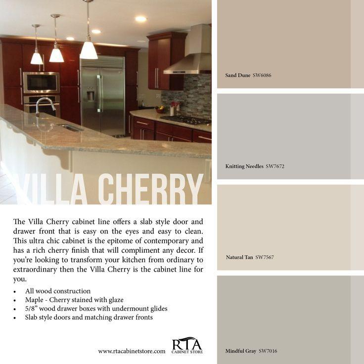 die besten 25 k che farbe farben mit kirschholz ideen auf pinterest graue k chenw nde. Black Bedroom Furniture Sets. Home Design Ideas