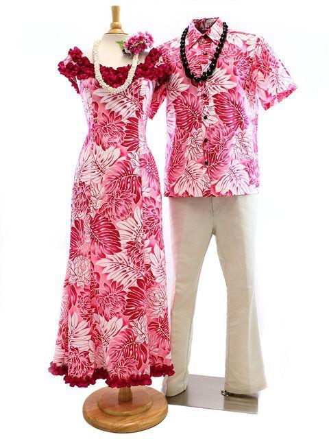 Men's Hawaiian Shirt Matching Hawaiian Outfits [Gradation Monstera / Pink] - 94 Best Matching Hawaiian Outfits Images On Pinterest Hawaiian