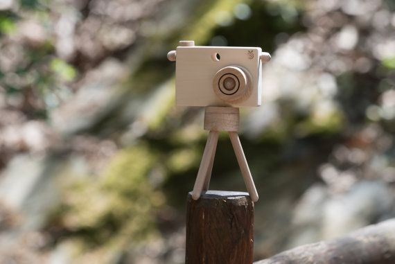 Personalized Wooden Toy Camera and Mini Photographic by beigebois