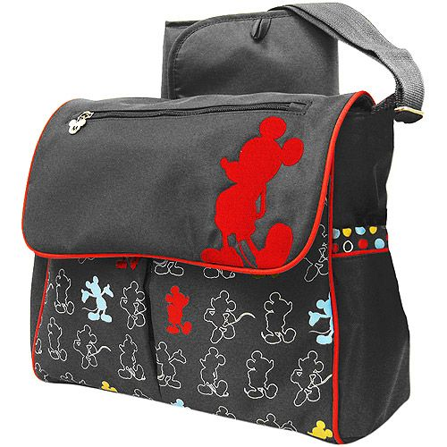 Disney Mickey Mouse In The House Messenger Diaper Bag