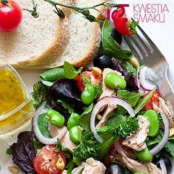 Przepis na sałatkę z bobem, tuńczykiem i pomidorami(obejdzie się bez tuńczyka ;) )