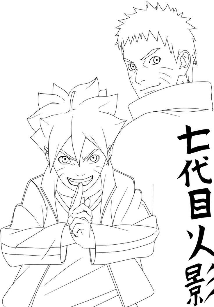 Boruto and Naruto Uzumaki line by aagito Naruto drawings