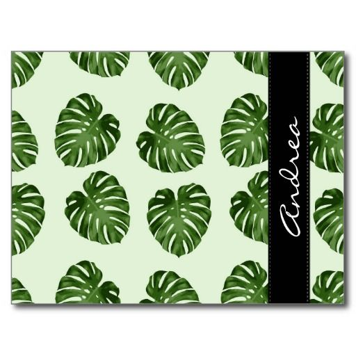 Your Name - Palm Leaves, Leaf Pattern - Green