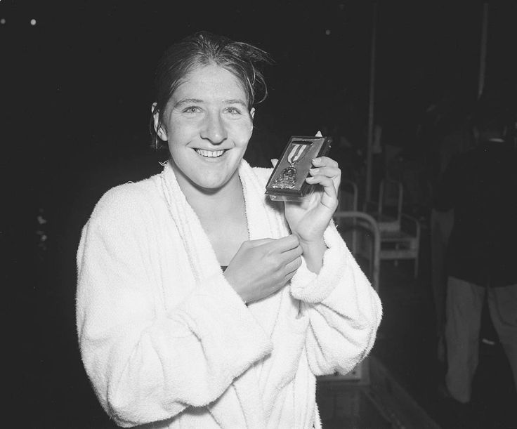 Dawn Fraser at the Australian National Swimming Championships and Olympic Trials, North Sydney Olympic Pool, 1960, where the most world records were set in the one pool at one meet. Australian Photographic Agency Collection, State Library of New South Wales: http://www.acmssearch.sl.nsw.gov.au/search/itemDetailPaged.cgi?itemID=79946
