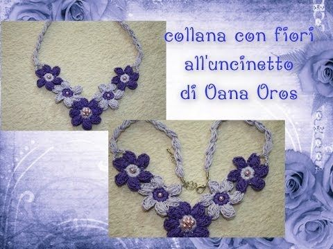 Crochet : Collar de Flores. Parte 2 de 2 - YouTube