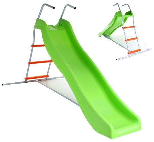 Kids Garden Slide & Step Set Children Outdoor Toy Patio Wavy Play Set Toddler  #Unbranded
