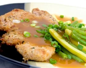 Veal Francese with Grand Marnier Sauce