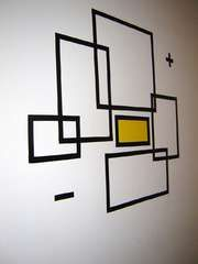 Instructable: How To Create Wall Art With Electrical Tape