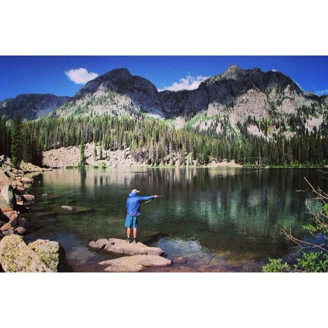 Wild strawberry breakfasts and pristine mountain lake for Durango co fly fishing